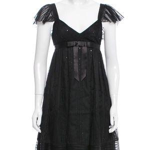 Anna Sui Sheer Embellished Dress, size 0